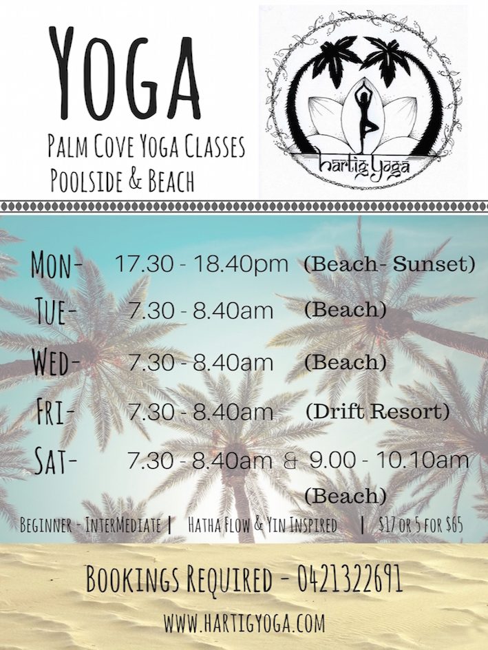 Palm Cove Yoga Schedule