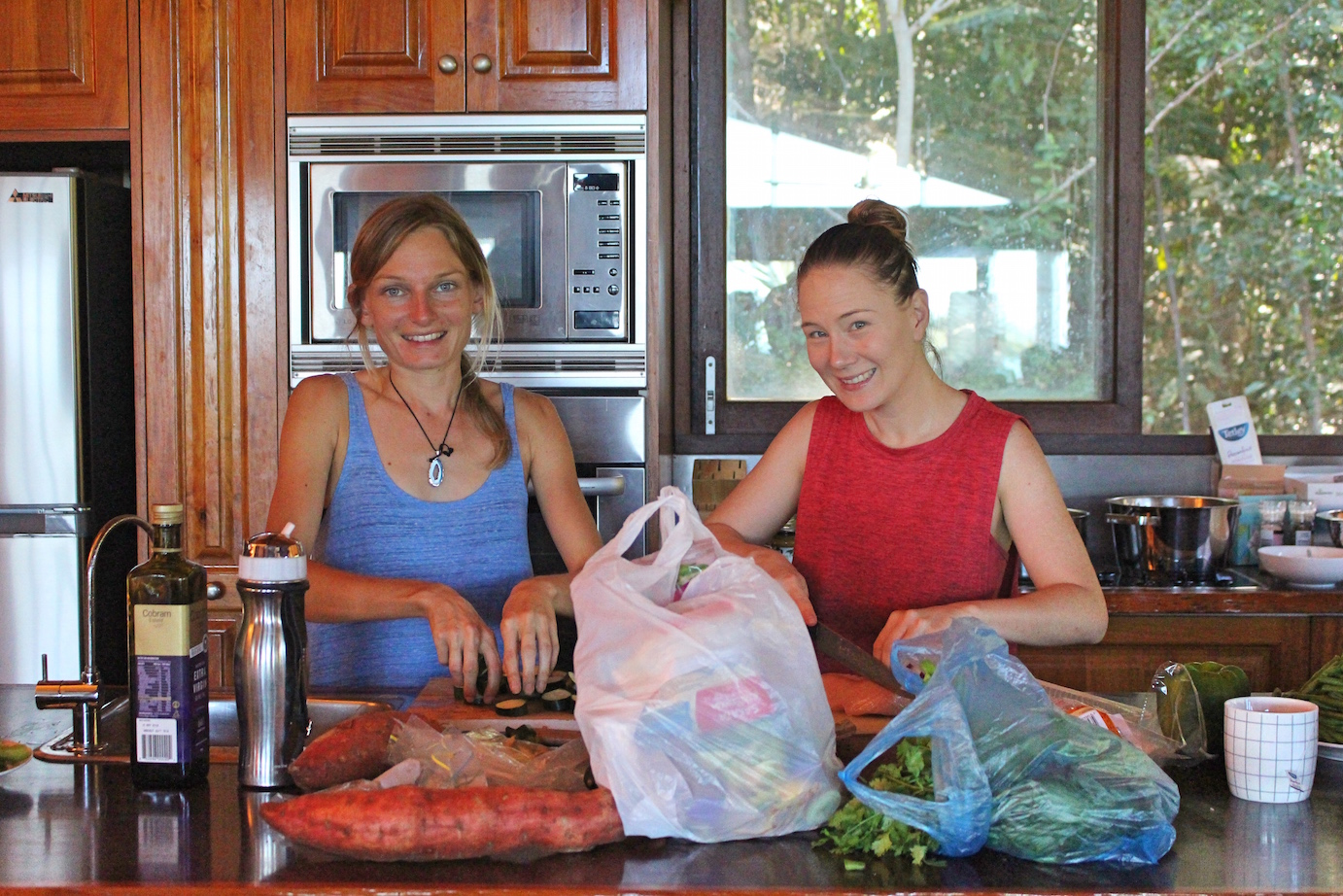 Yoga Retreat Cooking