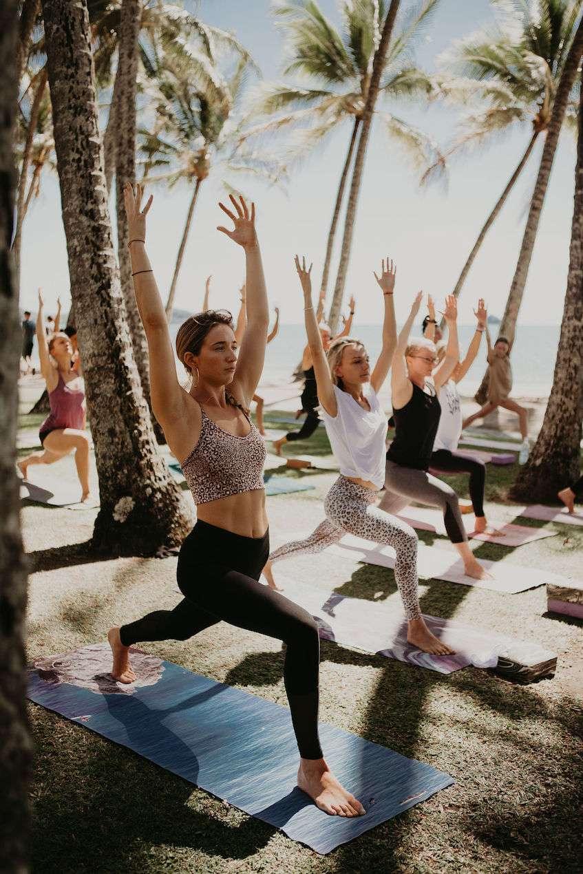 Cairns beach yoga