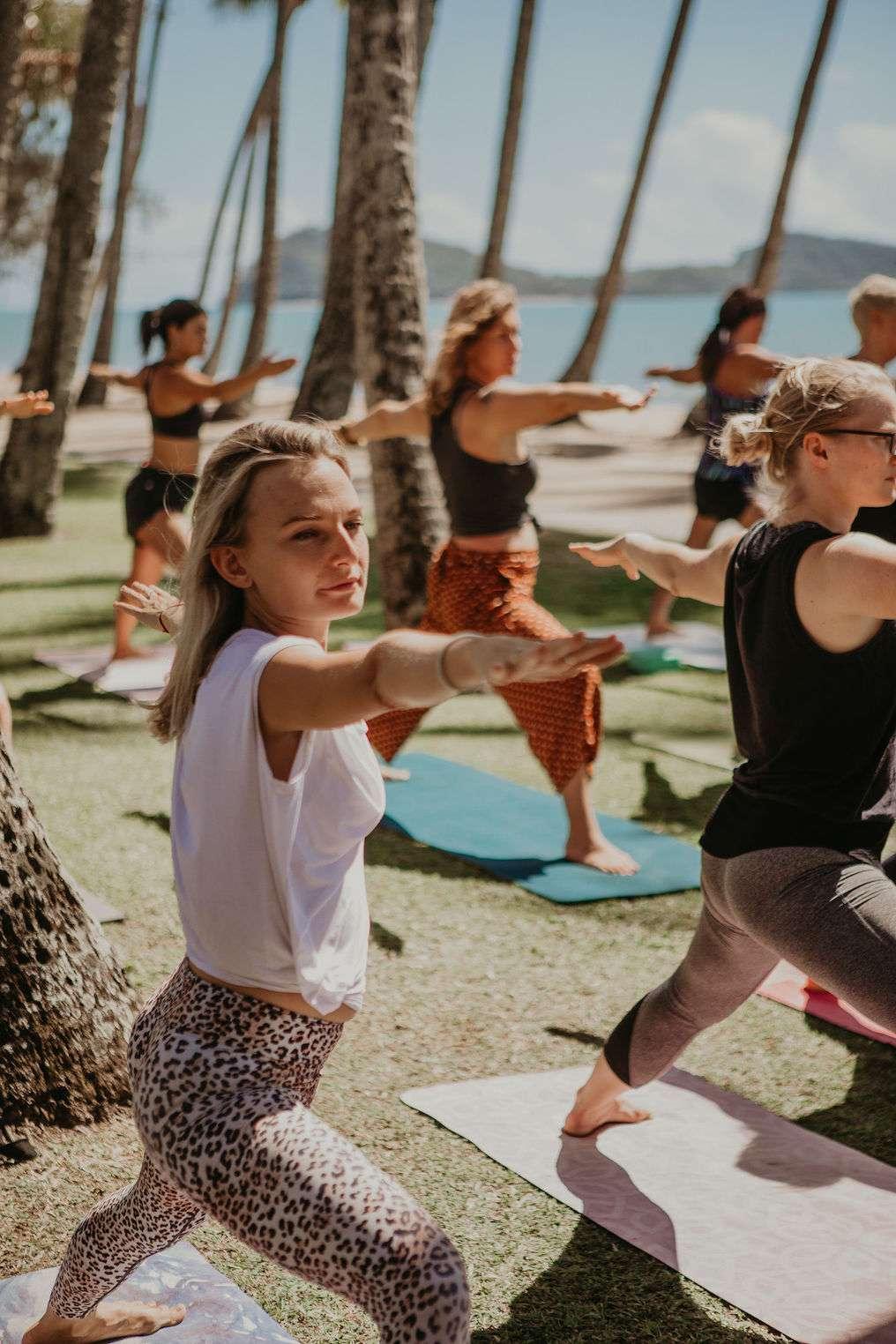 yoga pose palm cove