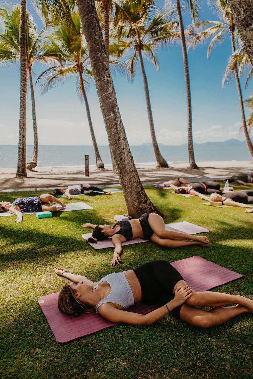 Cairns Yoga Class Beach